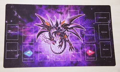 F1355 FREE MAT BAG Red-Eyes Darkness Dragon Yugioh Trading Card Game Playmat