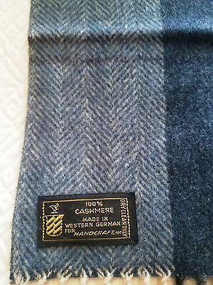 Vintage Made in West Germany Men's 100% Cashmere Scarf mint condition