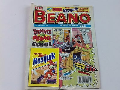 The Beano 2708 Comic June 11th 1994 with Original Free Nesquik - Gift Attached