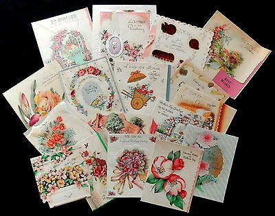 Mixed Lot of 1930's & 40's Mother's Day Cards    SEE PHOTO