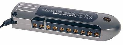 SLx Gold 8 Way Aerial Amplifier and Signal Booster for Digital Freeview TV DAB