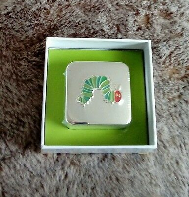 Portmeirion Very Hungry Caterpillar First Curl Tooth Box Silver Plated Brand New