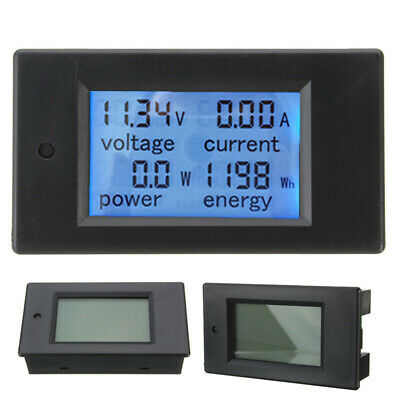 Excellway 20A DC Multifunction Digital Power Meter Energy Monitor Module Volt Me