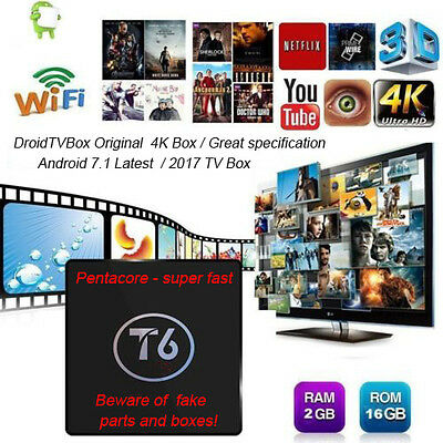 Android TV Box T6 Original 2GB+16GB 4K Android 17.1 Media player - best config!