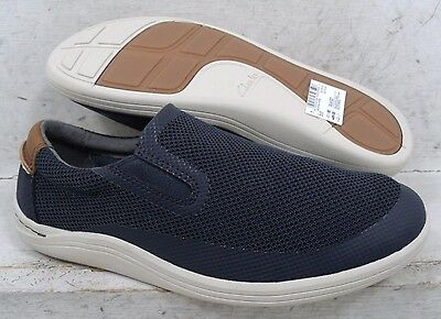 NEW Clarks Mens Mapped Step Navy 18135 Slip On Casual Walking Shoes size mm 7 M*