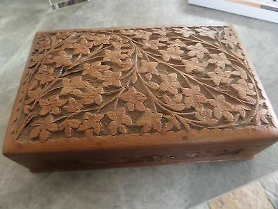 Vintage Wooden Carved Box