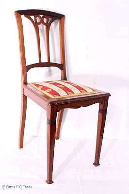 Antiker Jugendstil Stuhl Polsterstuhl Salonstuhl / Antique Art Nouveau Chair
