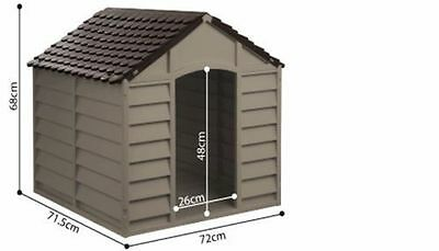 Plastic Dog House Dogs Kennel Starplast Puppy Shelter Dark Brown Outdoor Winter