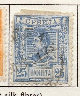 Serbia 1890 Early Issue Fine Used 25p. 157187