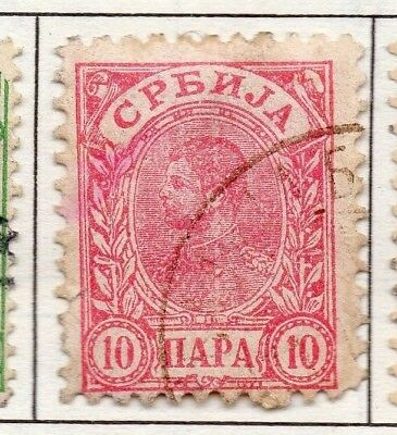 Serbia 1894 Early Issue Fine Used 10p. 157197