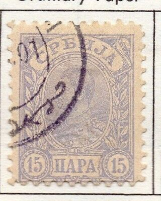 Serbia 1894 Early Issue Fine Used 15p. 157198