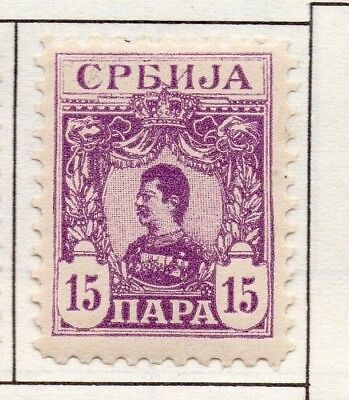 Serbia 1901 Early Issue Fine Mint Hinged 15p. 157204