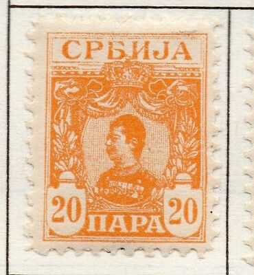 Serbia 1901 Early Issue Fine Mint Hinged 20p. 157205