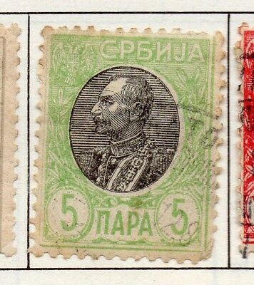 Serbia 1903-1904 Early Issue Fine Used 5p. 157230