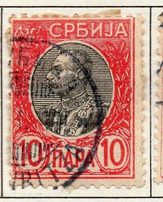 Serbia 1903-1904 Early Issue Fine Used 10p. 157231
