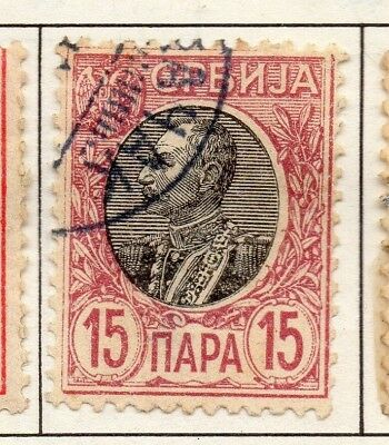 Serbia 1903-1904 Early Issue Fine Used 15p. 157232