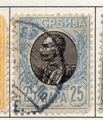 Serbia 1903-1904 Early Issue Fine Used 25p. 157234