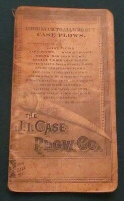 1885-86 J Case Plows Racine WI Pocket Farm Diary Catalog Book Phillipson Argyle