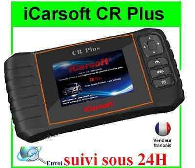 ICARSOFT CR+ CR PLUS VOITURE SCANNER Multimarque VALISE DIAGNOSTIQUE OBD OBD2