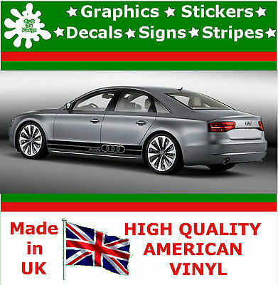 Audi car stripes sticker set large kit decal vinyl graphics racing auto decal 4
