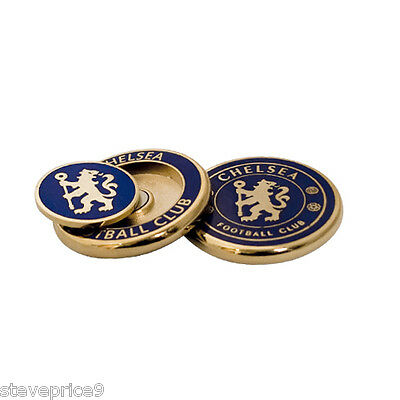 Chelsea Fc Hard Enamel Duo Golf Ball Marker In Clam Shell
