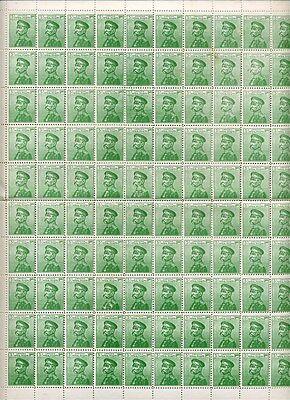 SERBIA; 1911 early Petar I issue 5p. fine MINT MNH COMPLETE SHEET