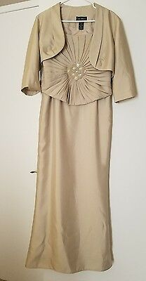Cachet formal mother of the bride 2 pc gown jacket dress set bridal size 10