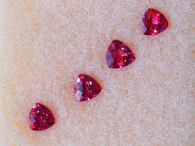 John & Laura Ramsey Gemstones Rhod. Garnet .46Ct For 3Mm Tril. Mtg. 4Pcs. Loose