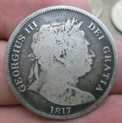 1817 Great Britain George III Half Crown Silver Coin No Resere