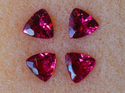John & Laura Ramsey Gemstones Rhod. Garnet .76Ct-4Pcs 4Mm Trill Mtg. Loose