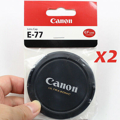 2x 77mm  Snap-On Front Lens Cap Cover for Canon  Ultrasonic 77mm Lens