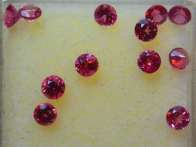 John & Laura Ramsey Gemstones Rhodolite 3Mm Round 1.50Ct 12Pcs Loose