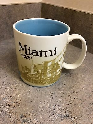 Starbucks Collector's Series Global Icon Miami Florida 16oz Coffee Mug Cup  2011