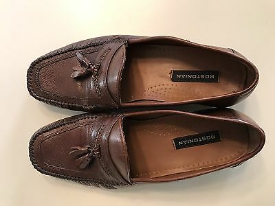Bostonian Men's Brown Leather Slip On Dress Shoes 8.5M Used