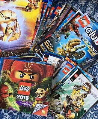 Mixed Lot Lego Magazines, Posters And Catalogues