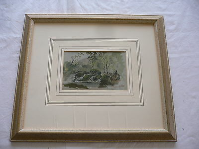 Original Watercolour Painting 'On a small tributary of the Duddon' 1928 Cumbria