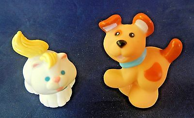 Vintage Fisher Price Loving Family Pets Dog Brown Puppy Cat White Kitten China