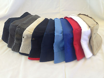wholesale lot 3,000+ classic bucket hats 100% cotton assorted sizes and colors