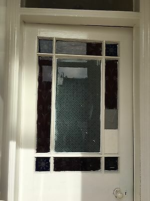 Victorian Vestibule Door Wood Reclaimed Period Old Antique Porch Stained Glass