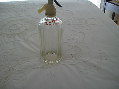 ~~~~Vintage Schweppes Soda Syphon Glass Bottle ~~~~