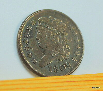 1809 Classic Head Half Cent Xf Details - Slightly Rotated Reverse