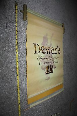 DEWARS 12 Year Old Special Reserve Scotch Whiskey Silk 2 sided Wall Banner Sign