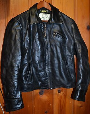 Early 50's 40's Excelled Horsehide Cafe Motorcycle Jacket Rockabilly Car Hot Rod