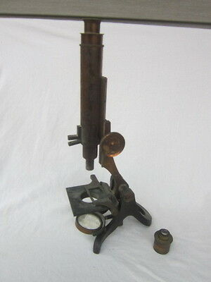 19th C ANTIQUE BRASS HENRY CROUCH LONDON MICROSCOPE WOW!