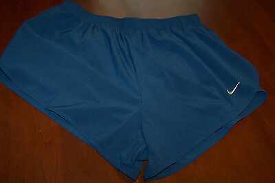 Women's Nike Dri Fit Track Running Shorts size small L Large Shorts Blue lined