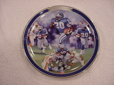 SWEET Barry Sanders Games Greatest Bradford Collector Plate, Detroit Lions, MINT