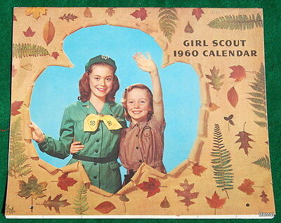 Vintage Girl Scout - 1960 Calendar - No Writing Inside