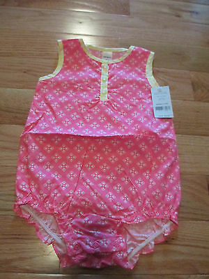 NWT Baby Girls 24 month Neon Pink one-piece