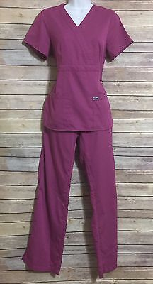 Greys Anatomy Pink Scrub Set Medium Top Small Tall Pants