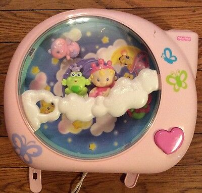 Fisher Price Perfectly Pink Princess Baby Crib Soother Light Music Projector